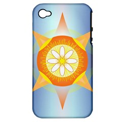 Star Pattern Background Apple Iphone 4/4s Hardshell Case (pc+silicone)