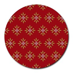 Pattern Background Holiday Round Mousepads