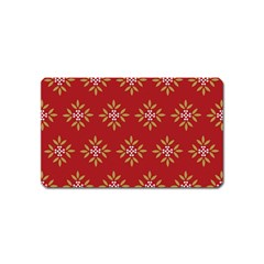 Pattern Background Holiday Magnet (name Card)