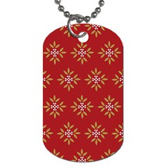 Pattern Background Holiday Dog Tag (one Side)