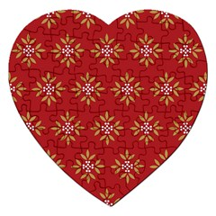 Pattern Background Holiday Jigsaw Puzzle (heart)