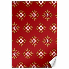 Pattern Background Holiday Canvas 12  X 18