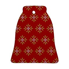 Pattern Background Holiday Ornament (bell)