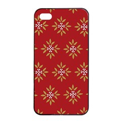 Pattern Background Holiday Apple Iphone 4/4s Seamless Case (black)