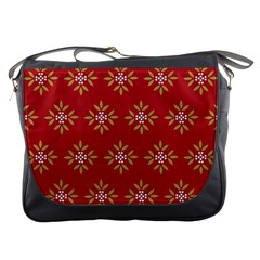 Pattern Background Holiday Messenger Bags