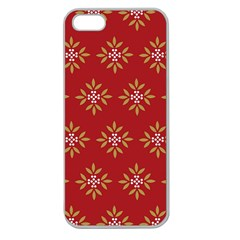 Pattern Background Holiday Apple Seamless Iphone 5 Case (clear)