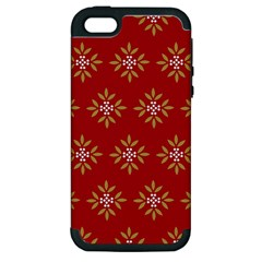 Pattern Background Holiday Apple Iphone 5 Hardshell Case (pc+silicone)