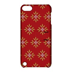 Pattern Background Holiday Apple Ipod Touch 5 Hardshell Case With Stand