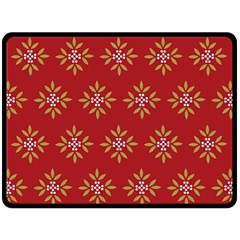 Pattern Background Holiday Double Sided Fleece Blanket (large)