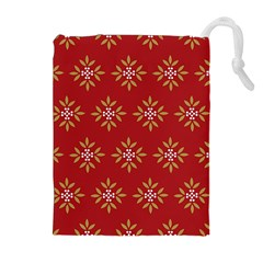 Pattern Background Holiday Drawstring Pouches (extra Large)