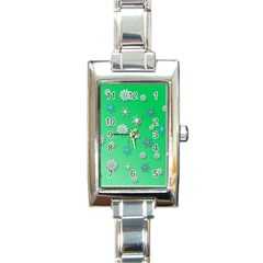 Snowflakes Winter Christmas Overlay Rectangle Italian Charm Watch