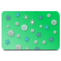Snowflakes Winter Christmas Overlay Large Doormat