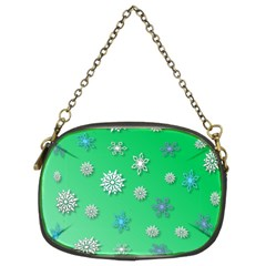Snowflakes Winter Christmas Overlay Chain Purses (two Sides)