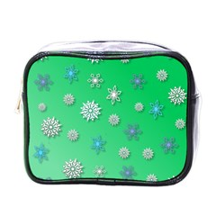Snowflakes Winter Christmas Overlay Mini Toiletries Bags