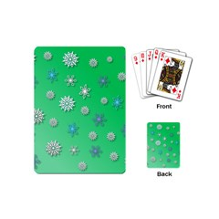 Snowflakes Winter Christmas Overlay Playing Cards (mini)