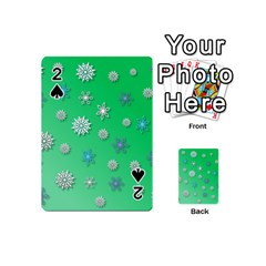 Snowflakes Winter Christmas Overlay Playing Cards 54 (mini)