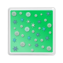 Snowflakes Winter Christmas Overlay Memory Card Reader (square)