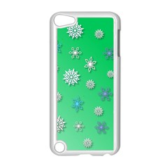 Snowflakes Winter Christmas Overlay Apple Ipod Touch 5 Case (white)