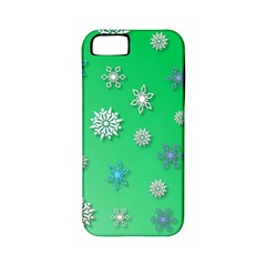 Snowflakes Winter Christmas Overlay Apple Iphone 5 Classic Hardshell Case (pc+silicone)