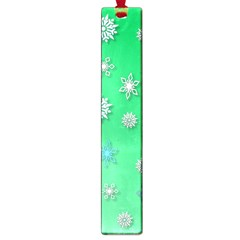 Snowflakes Winter Christmas Overlay Large Book Marks