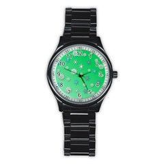 Snowflakes Winter Christmas Overlay Stainless Steel Round Watch