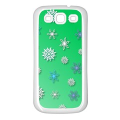 Snowflakes Winter Christmas Overlay Samsung Galaxy S3 Back Case (white)