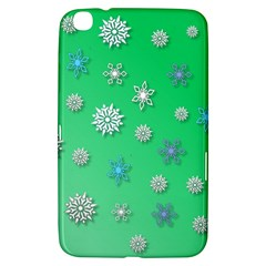 Snowflakes Winter Christmas Overlay Samsung Galaxy Tab 3 (8 ) T3100 Hardshell Case