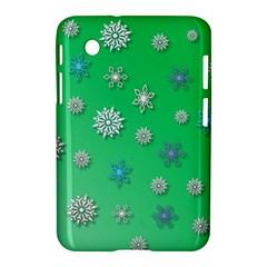 Snowflakes Winter Christmas Overlay Samsung Galaxy Tab 2 (7 ) P3100 Hardshell Case