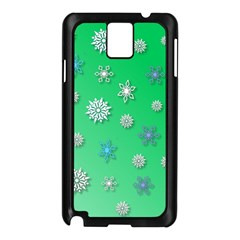 Snowflakes Winter Christmas Overlay Samsung Galaxy Note 3 N9005 Case (black)