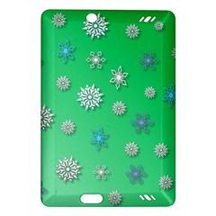 Snowflakes Winter Christmas Overlay Amazon Kindle Fire Hd (2013) Hardshell Case
