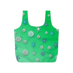 Snowflakes Winter Christmas Overlay Full Print Recycle Bags (s)