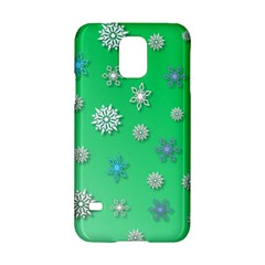 Snowflakes Winter Christmas Overlay Samsung Galaxy S5 Hardshell Case