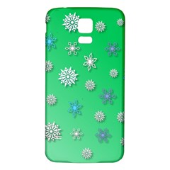 Snowflakes Winter Christmas Overlay Samsung Galaxy S5 Back Case (white)