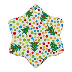 Pattern Circle Multi Color Snowflake Ornament (two Sides)
