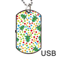 Pattern Circle Multi Color Dog Tag Usb Flash (two Sides)
