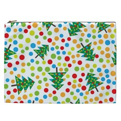 Pattern Circle Multi Color Cosmetic Bag (xxl)