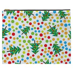 Pattern Circle Multi Color Cosmetic Bag (xxxl)