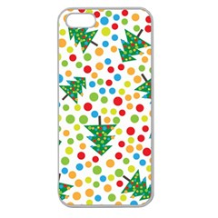 Pattern Circle Multi Color Apple Seamless Iphone 5 Case (clear)