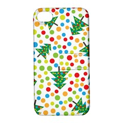 Pattern Circle Multi Color Apple Iphone 4/4s Hardshell Case With Stand