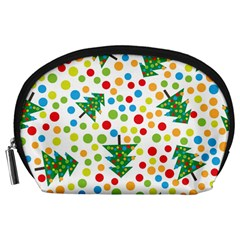 Pattern Circle Multi Color Accessory Pouches (large)