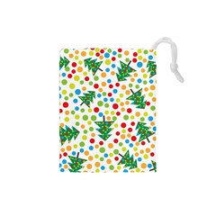 Pattern Circle Multi Color Drawstring Pouches (small)