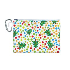 Pattern Circle Multi Color Canvas Cosmetic Bag (m)