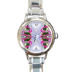 Seamless Tileable Pattern Design Round Italian Charm Watch