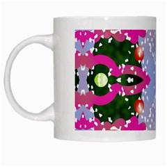 Seamless Tileable Pattern Design White Mugs