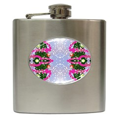 Seamless Tileable Pattern Design Hip Flask (6 Oz)