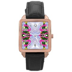 Seamless Tileable Pattern Design Rose Gold Leather Watch