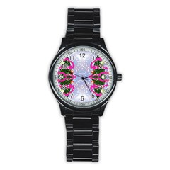 Seamless Tileable Pattern Design Stainless Steel Round Watch