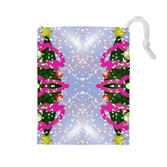 Seamless Tileable Pattern Design Drawstring Pouches (large)