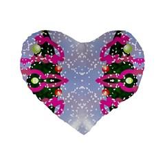 Seamless Tileable Pattern Design Standard 16  Premium Flano Heart Shape Cushions