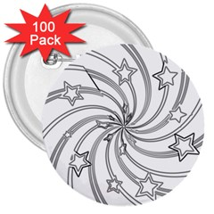 Star Christmas Pattern Texture 3  Buttons (100 Pack)